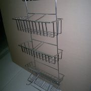Steel + chrome plating, bending and welding shelf