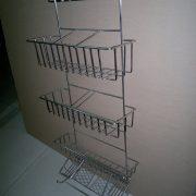 Steel + chrome plating, bending and welding shelf
