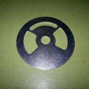 Steel + zinc plating, burner shutter plate